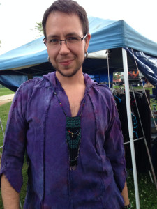 A new purple silk tunic was acquired at Free Spirit Gathering.