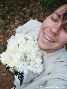 Self-portrait from my wedding day