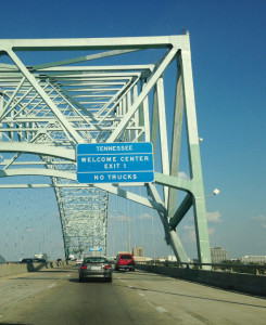 Finally entering Tennessee.