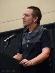 Lee giving the Keynote Speech at Transcending Boundaries Conference 2010