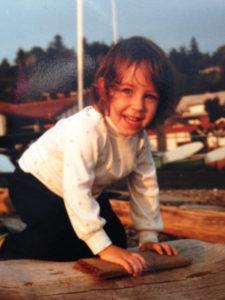 Lee at Beach as kid